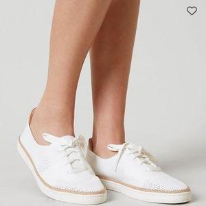 UGG Pinkett Sneaker in white fabric
